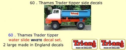60 . Tri-ang Thames Trader tipper side decals